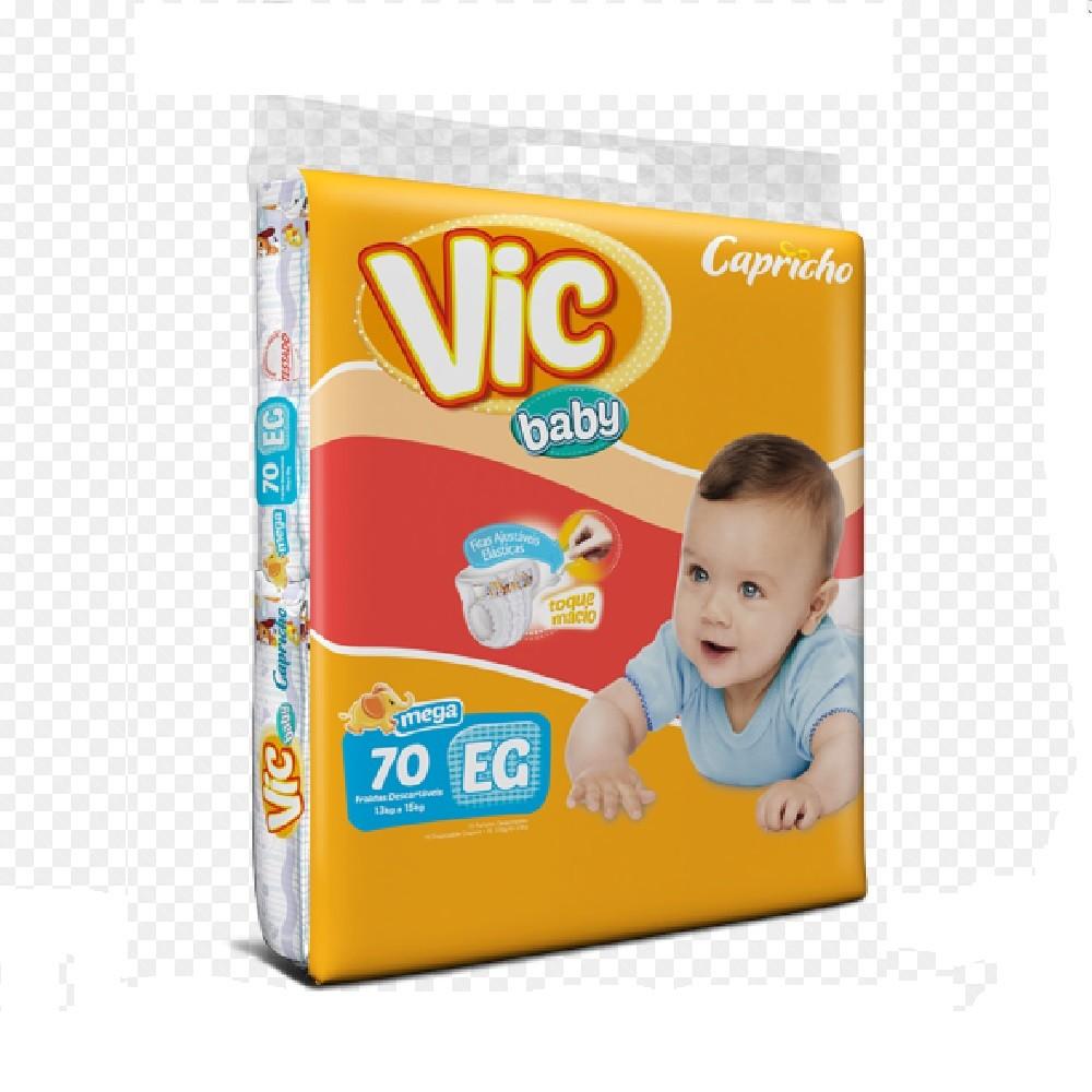 FRALDA INFANTIL DESCARTAVEL VIC BABY XG C/70  - Ruth Fraldas
