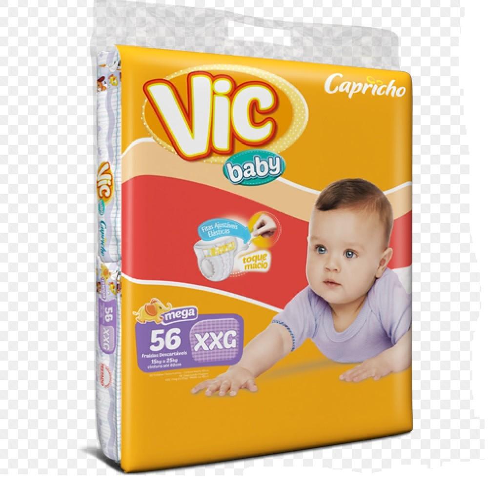 FRALDA INFANTIL DESCARTAVEL VIC BABY XXG C/56  - Ruth Fraldas