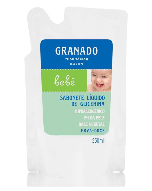 SABONETE LIQUIDO GRANADO BEBE REFIL ERVAS 250 ML  - Ruth Fraldas