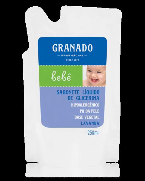 SABONETE LIQUIDO GRANADO BEBE REFIL LAVANDA 250ML  - Ruth Fraldas