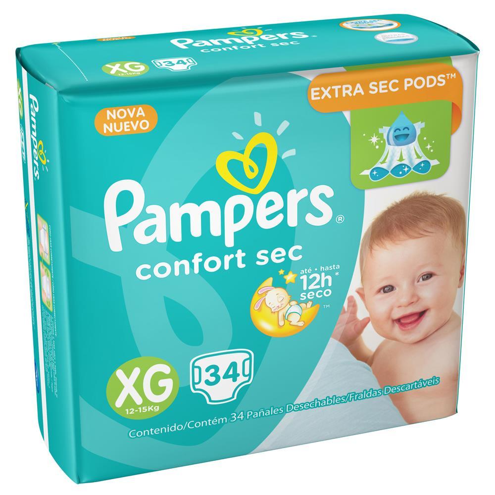 FRALDA PAMPERS CONFORT SEC XG C/34  - Ruth Fraldas