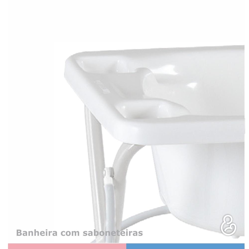 BANHEIRA GALZERANO 7055 RIGIDA BRANCA  - Ruth Fraldas