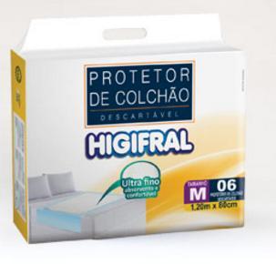PROTETOR DESCARTAVEL DE COLCHAO HIGIFRAL M C/6  - Ruth Fraldas