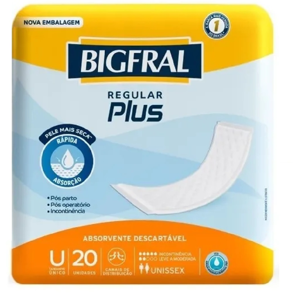 ABSORVENTE GERI. BIGFRAL PLUS REGU 8 PCT.C/20 CXF  - Ruth Fraldas