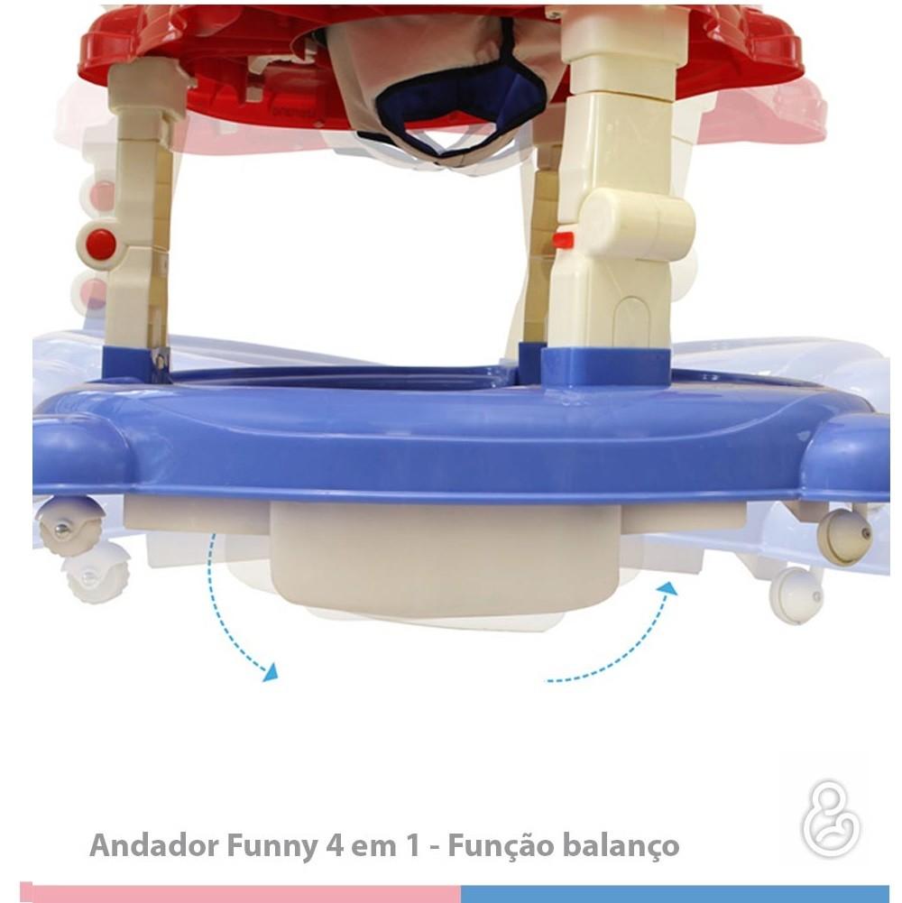 ANDADOR GALZERANO 4 EM 1 FUNNY COLOR CR  - Ruth Fraldas