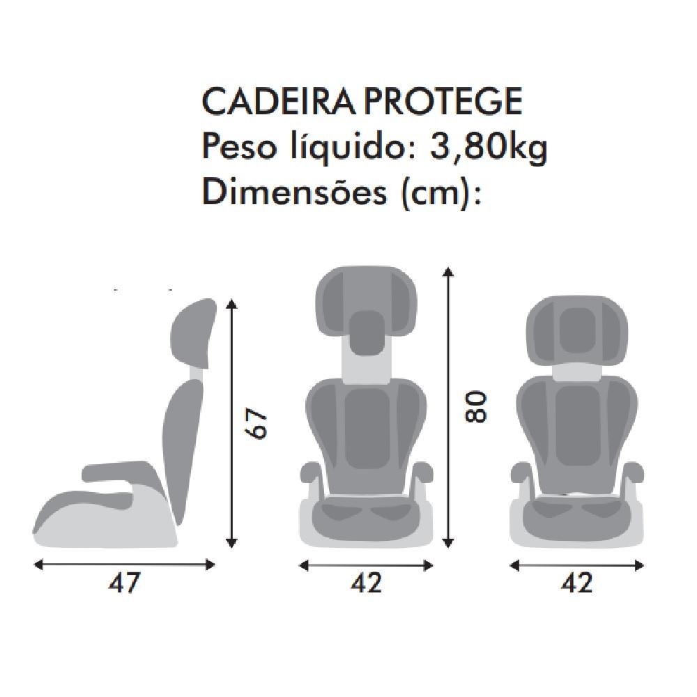 CADEIRA P/AUTO BURIGOTTO PROTEGE RECL MESCLA PRETO  - Ruth Fraldas