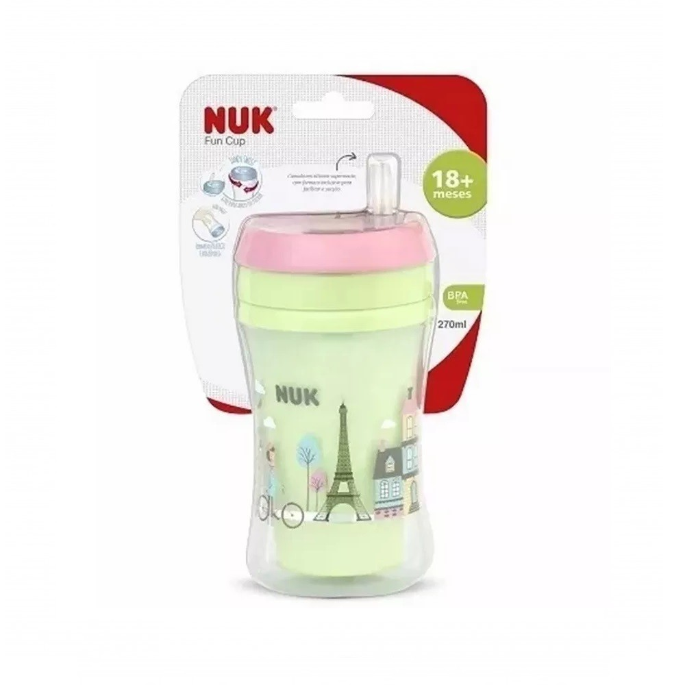 COPO FUN C/CANUDO GIRL NUK 18+ MESES 270 ML  - Ruth Fraldas