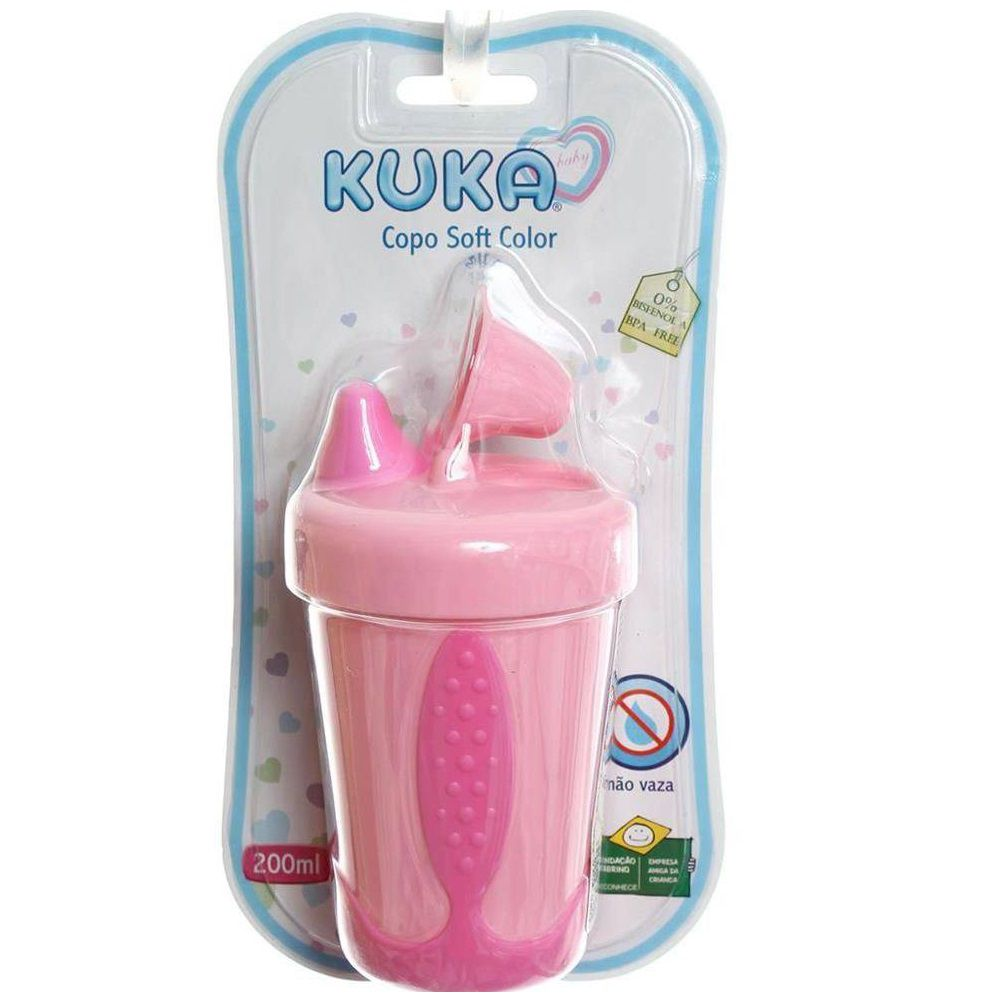 COPO KUKA 200ML SOFT COLOR ROSA  - Ruth Fraldas