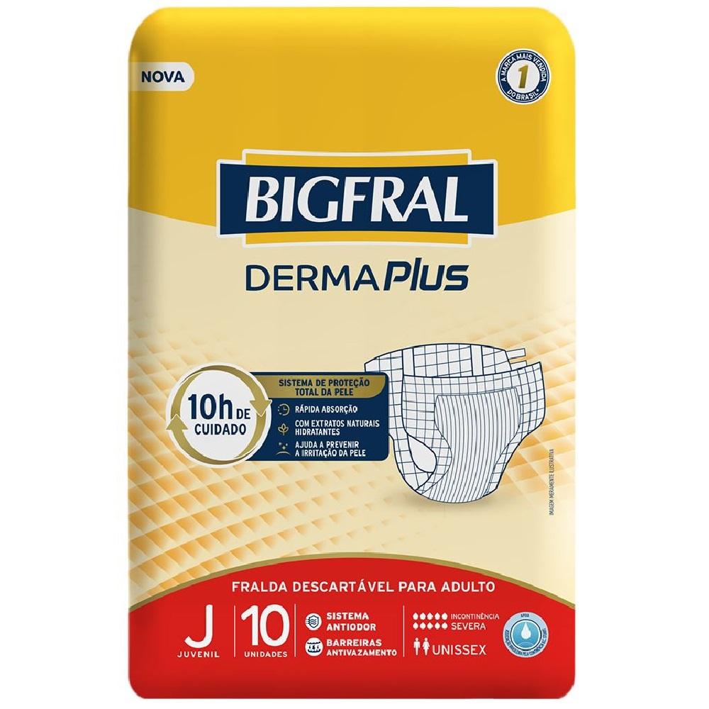FRALDA GERIATRICA BIGFRAL DERMA PLUS JUVENIL C/10  - Ruth Fraldas