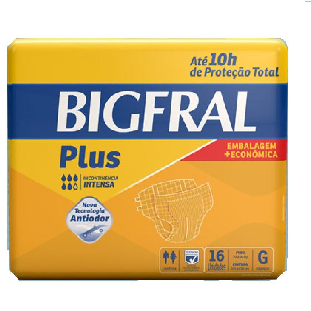 FRALDA GERIATRICA BIGFRAL PLUS G 4 PCT.C/16 CXF  - Ruth Fraldas