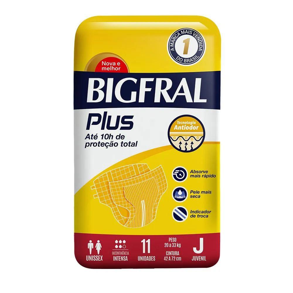 FRALDA GERIATRICA BIGFRAL PLUS JUVENIL C/11  - Ruth Fraldas