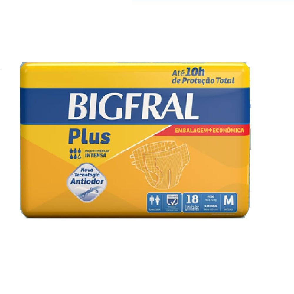 FRALDA GERIATRICA BIGFRAL PLUS M 4 PCT.C/18 CXF  - Ruth Fraldas