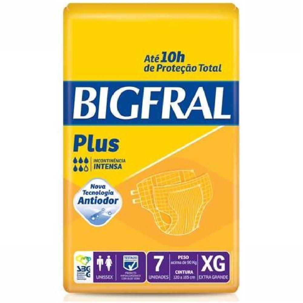 FRALDA GERIATRICA BIGFRAL PLUS XG 8 PCT. C/7 CXF  - Ruth Fraldas