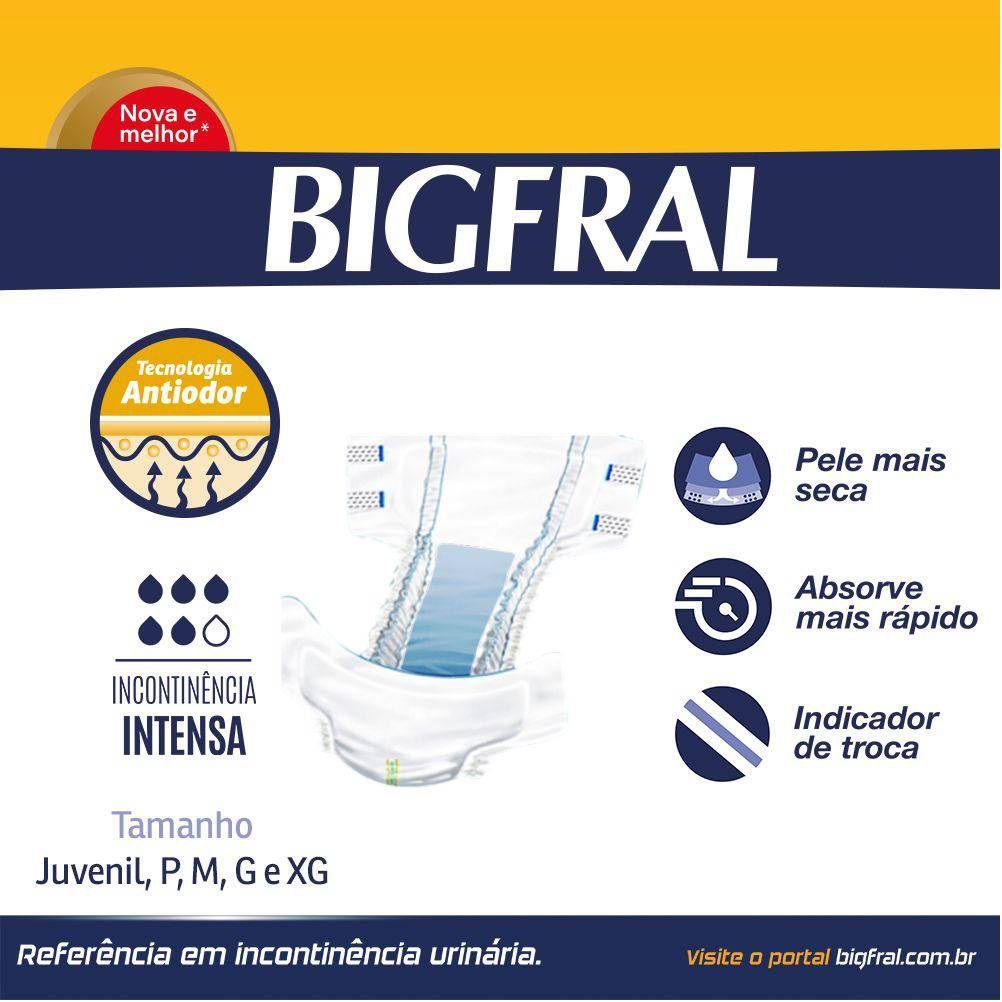 FRALDA GERIATRICA BIGFRAL PLUS XG C/ 7  - Ruth Fraldas