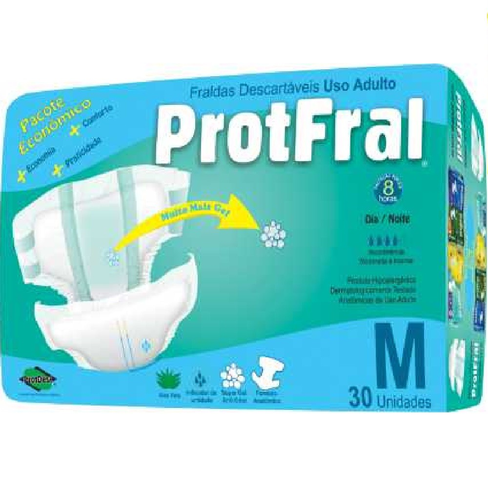 FRALDA GERIATRICA PROTFRAL M 4 PCT.C/30 CXF  - Ruth Fraldas