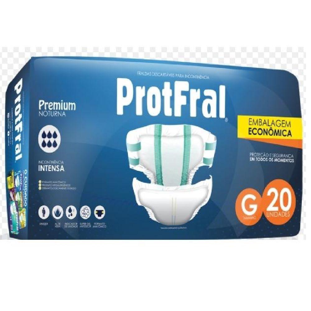 FRALDA GERIATRICA PROTFRAL PREMIUM G C/20  - Ruth Fraldas