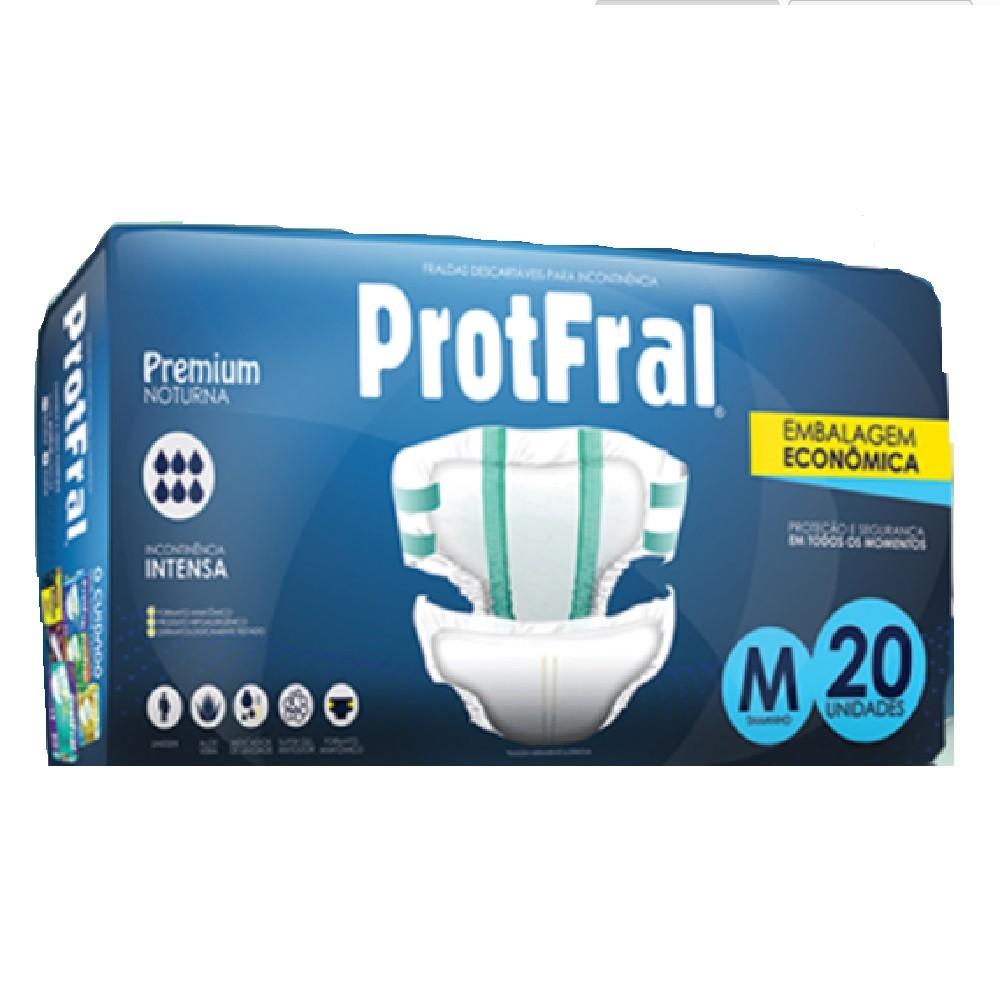 FRALDA GERIATRICA PROTFRAL PREMIUM M C/20  - Ruth Fraldas