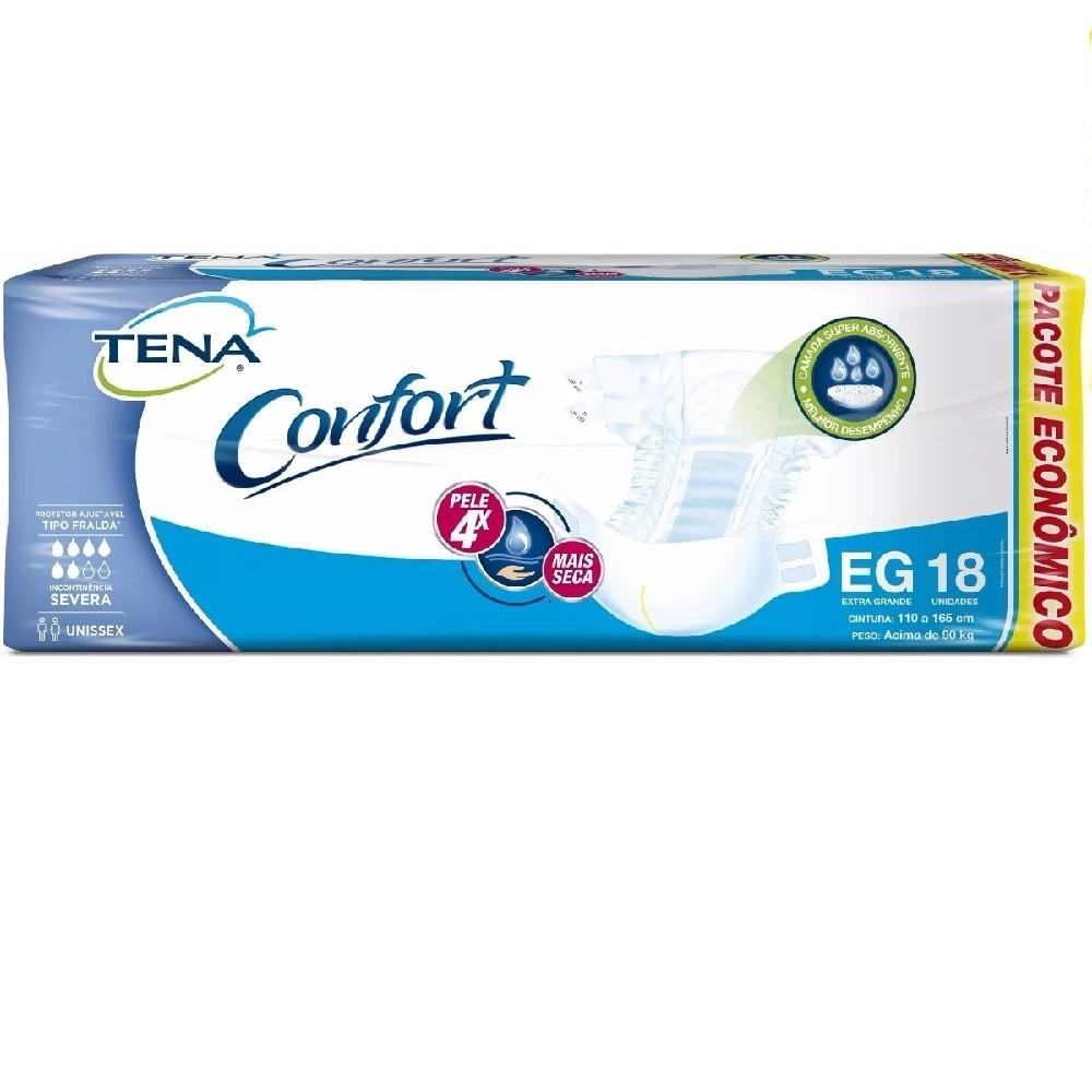 FRALDA GERIATRICA TENA CONFORT EG 4 PCT.C/18 CXF  - Ruth Fraldas