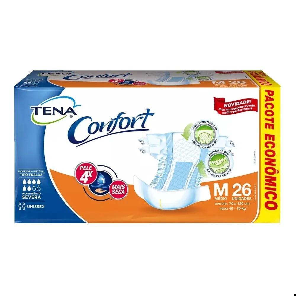 FRALDA GERIATRICA TENA CONFORT M 4 PCT.C/26 CXF  - Ruth Fraldas