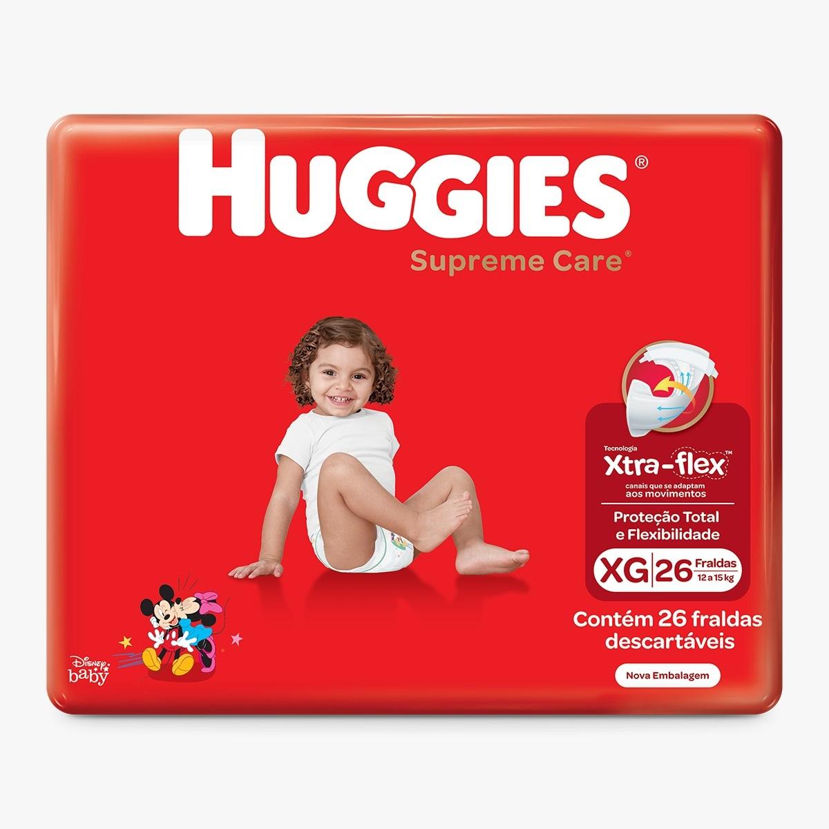 FRALDA HUGGIES SUPREME CARE XG C/26  - Ruth Fraldas
