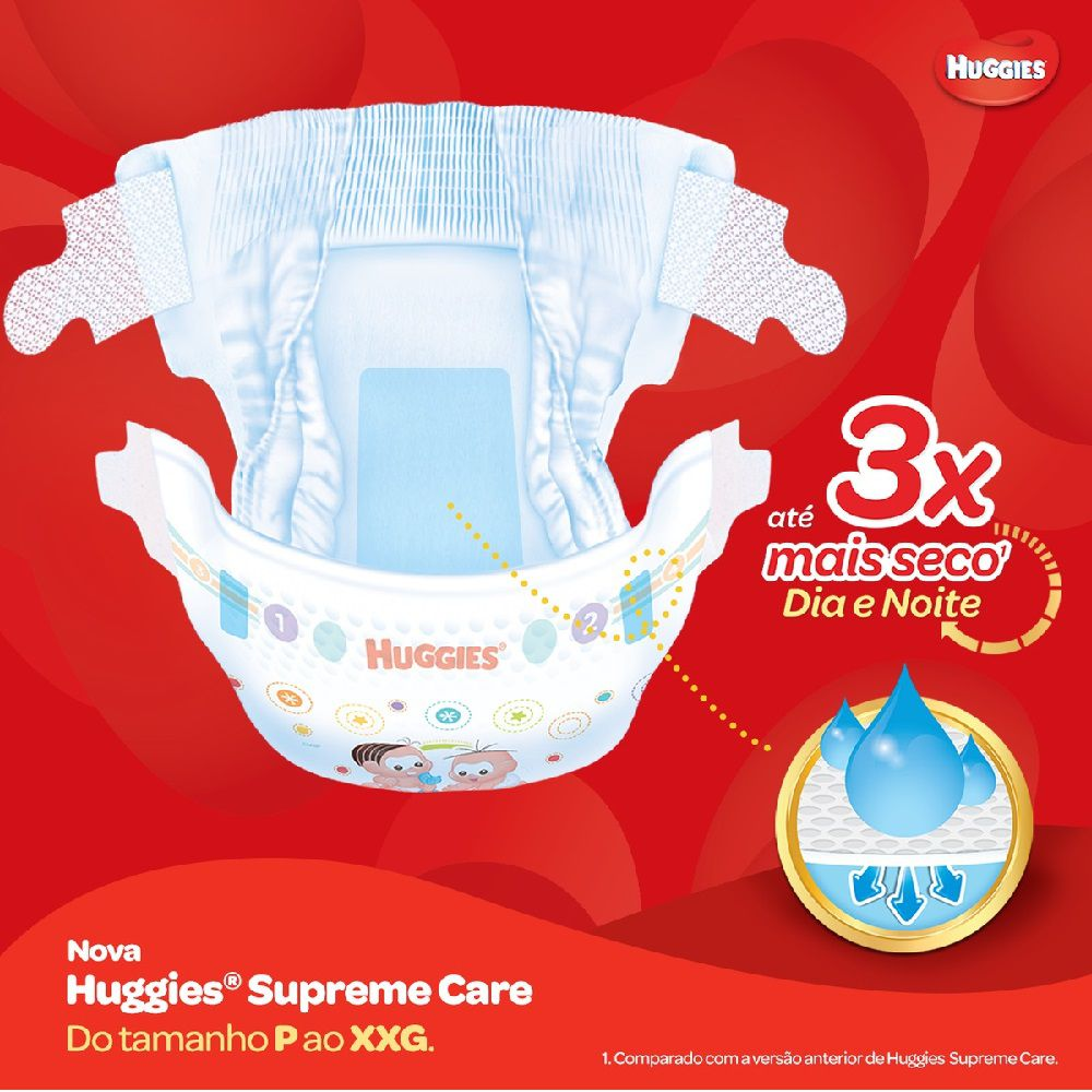 FRALDA HUGGIES SUPREME CARE XG C/26  - Ruth Fraldas