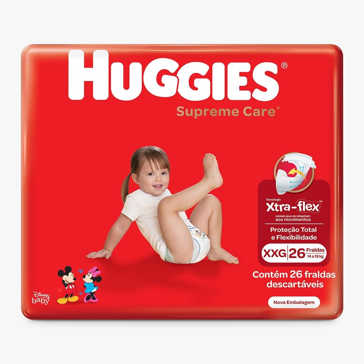 FRALDA HUGGIES SUPREME CARE XXG C/26  - Ruth Fraldas