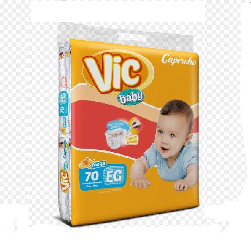 FRALDA INFANTIL VIC BABY XG 3 PCT. C/70 CXF  - Ruth Fraldas
