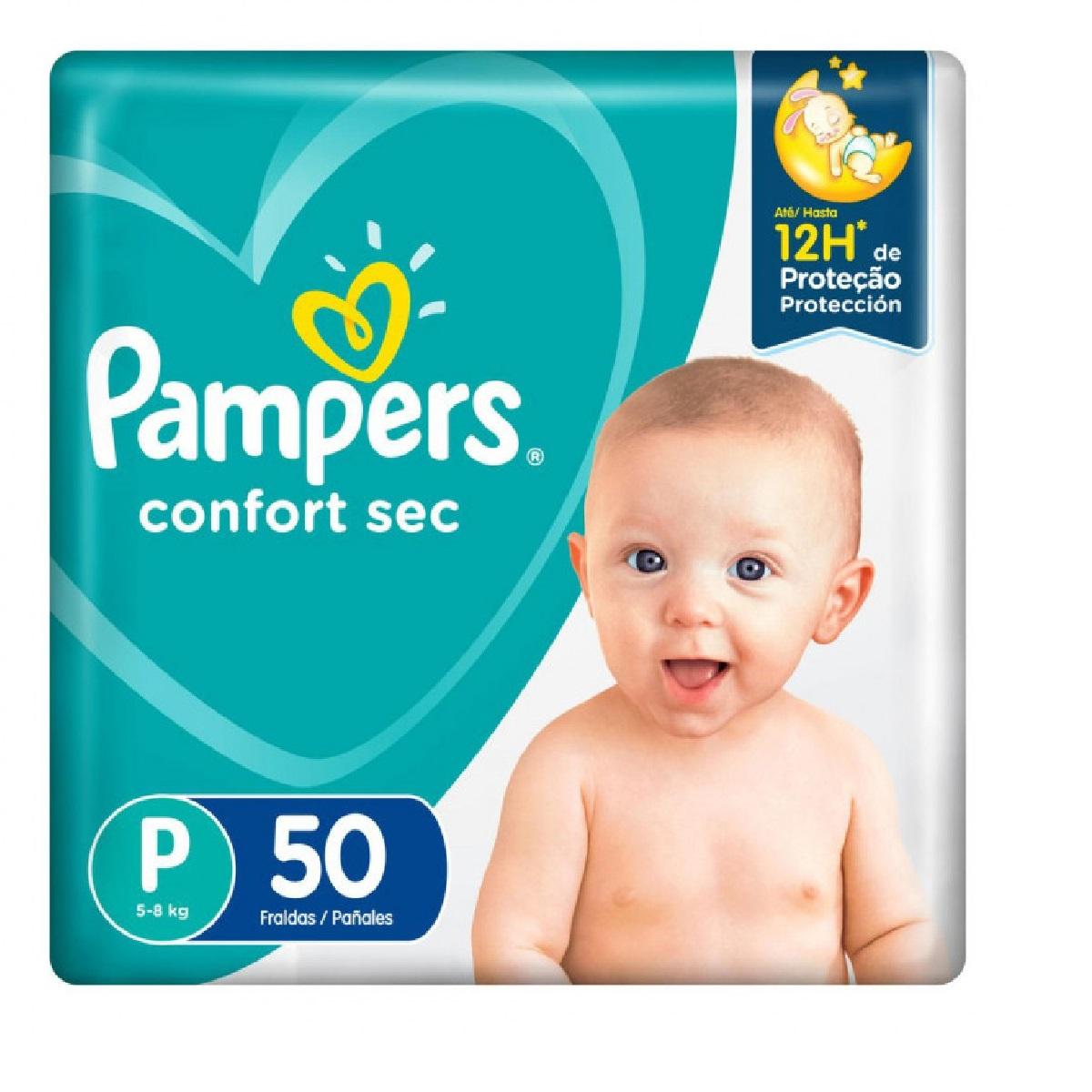 FRALDA PAMPERS CONFORT SEC P C/50  - Ruth Fraldas