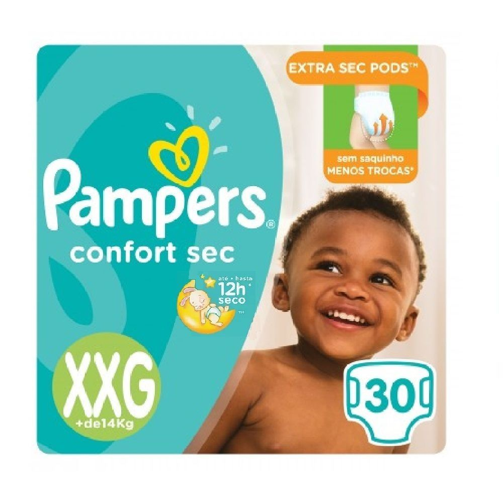 FRALDA PAMPERS CONFORT SEC XXG 3 PCT.C/30 CXF  - Ruth Fraldas