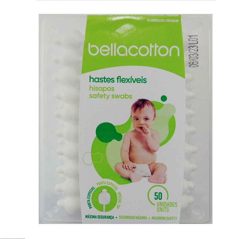 HASTES FLEXIVEIS BELLA COTTON BABY C/50  - Ruth Fraldas