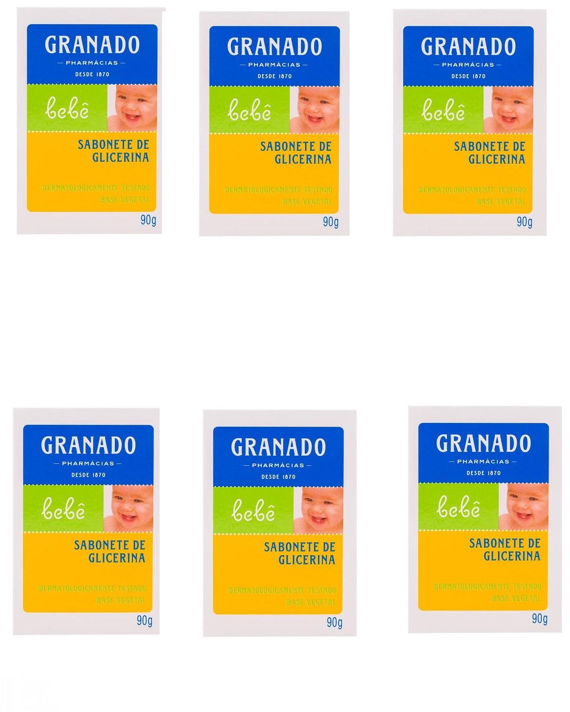 KIT SABONETE GRANADO BEBÊ 90G GLICERINA C/6  - Ruth Fraldas