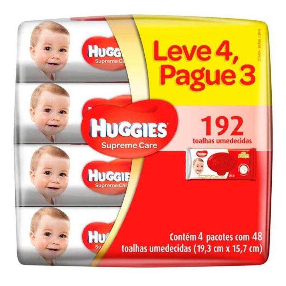 LENÇOS UMED. HUGGIES SUPREME CARE C/48 LV 4 PG 3  - Ruth Fraldas