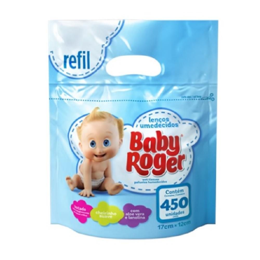 LENÇOS UMEDECIDOS BABY ROGER REFIL 450  - Ruth Fraldas