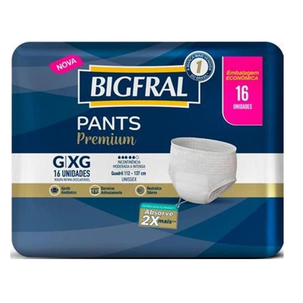 ROUPA INTIMA BIGFRAL PANTS PREMIUM G/XG C/16  - Ruth Fraldas