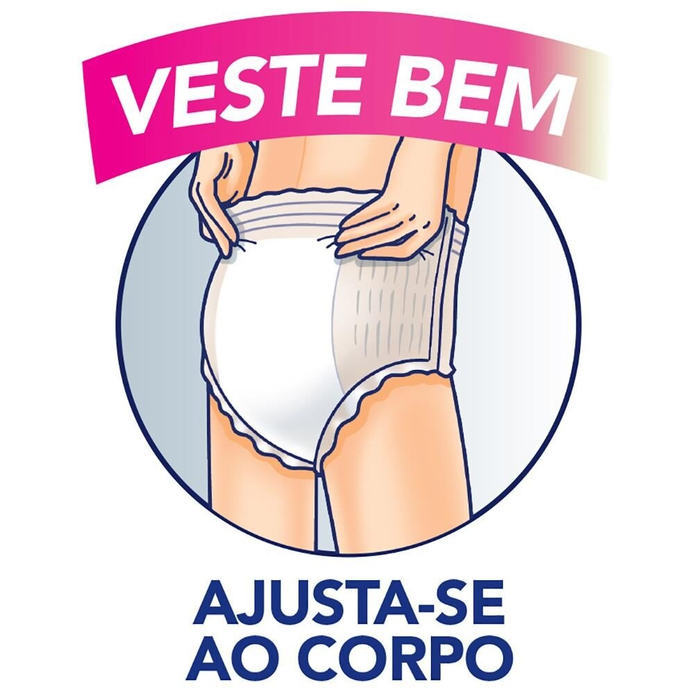 ROUPA INTIMA LIFREE EXTRA ABSORÇÃO P/M C/8  - Ruth Fraldas