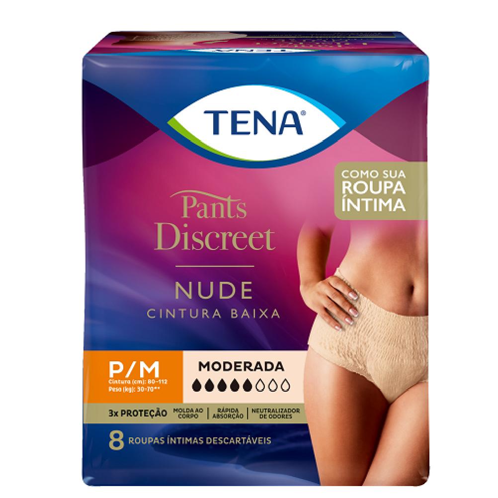 ROUPA INTIMA TENA PANTS DISCREET NUDE P/M C/8  - Ruth Fraldas
