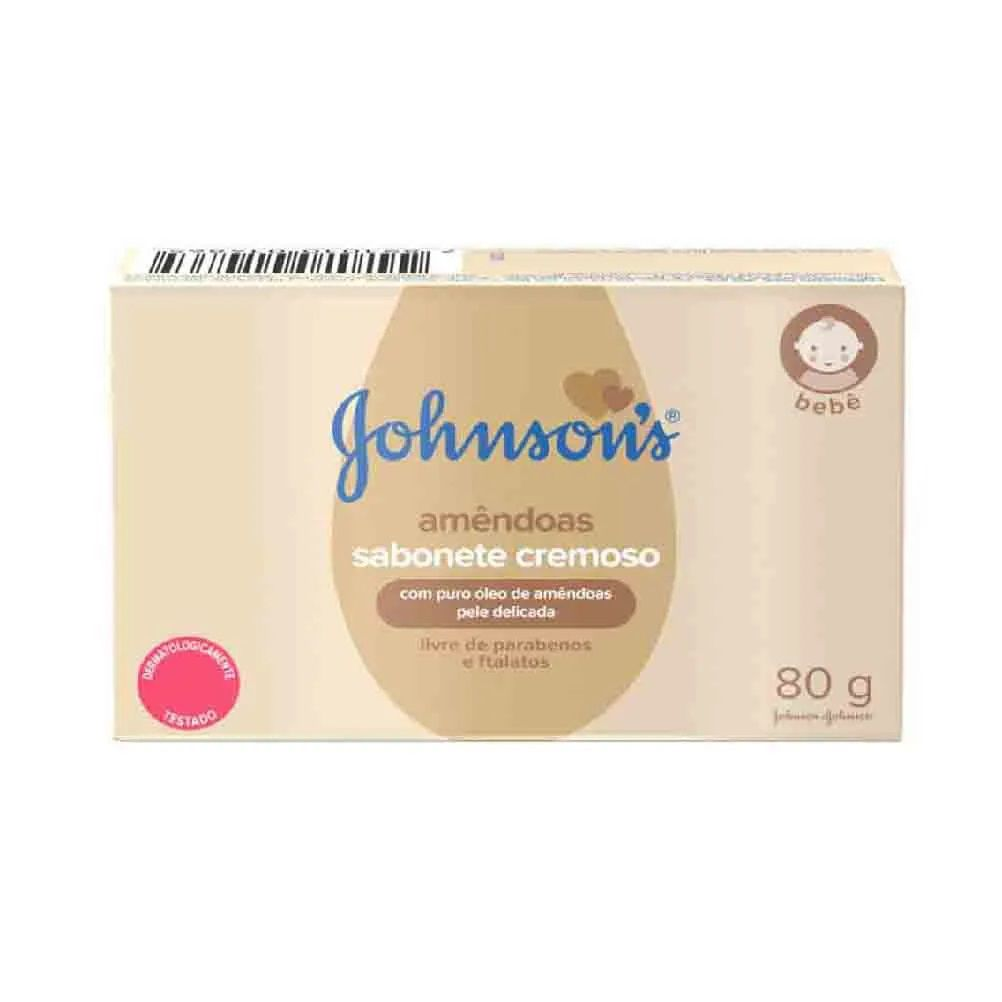 SABONETE JOHNSONS C/80 GR. OLEO AMENDOAS  - Ruth Fraldas