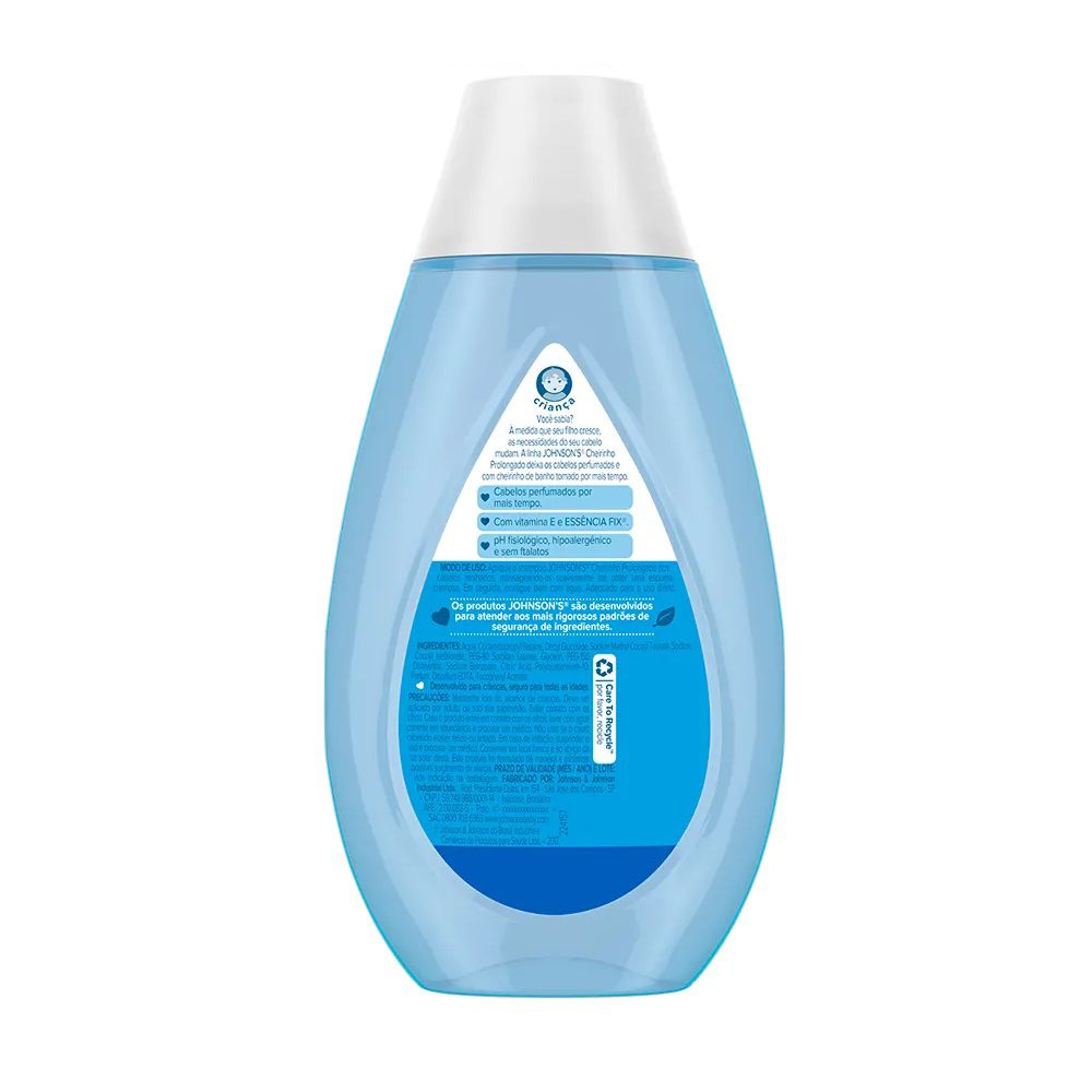 SHAMPOO JOHNSONS CHEIRINHO PROLONGADO 200 ML  - Ruth Fraldas