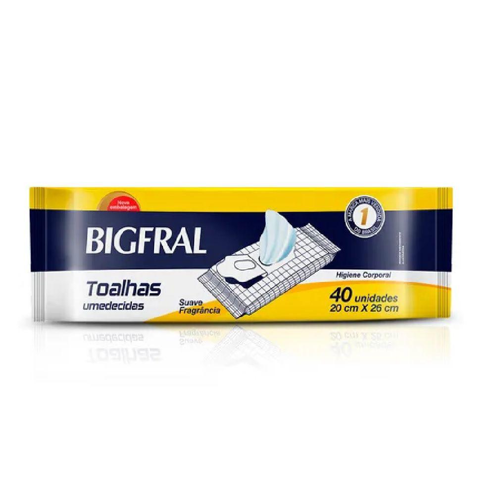 TOALHAS UMEDECIDAS BIGFRAL C/40 P/ADULTO  - Ruth Fraldas