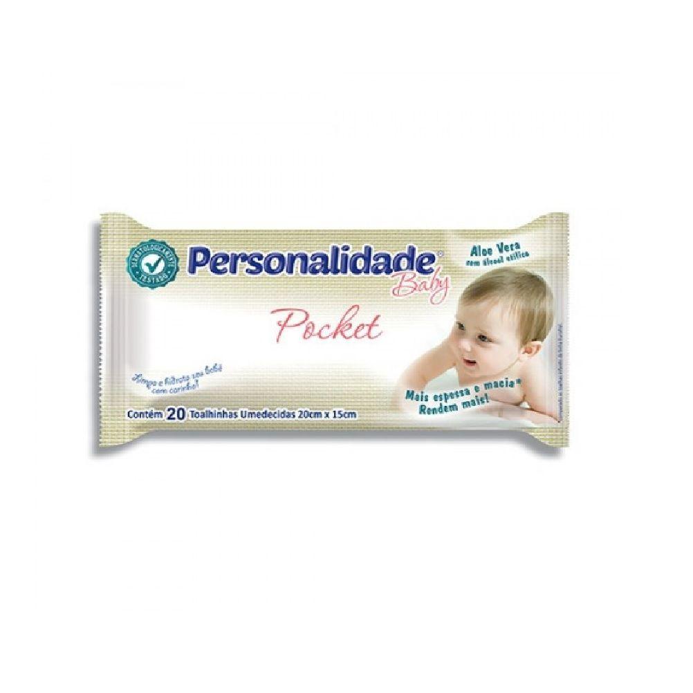 TOALHAS UMEDECIDAS PERSONALIDADE BABY POCKET C/20  - Ruth Fraldas