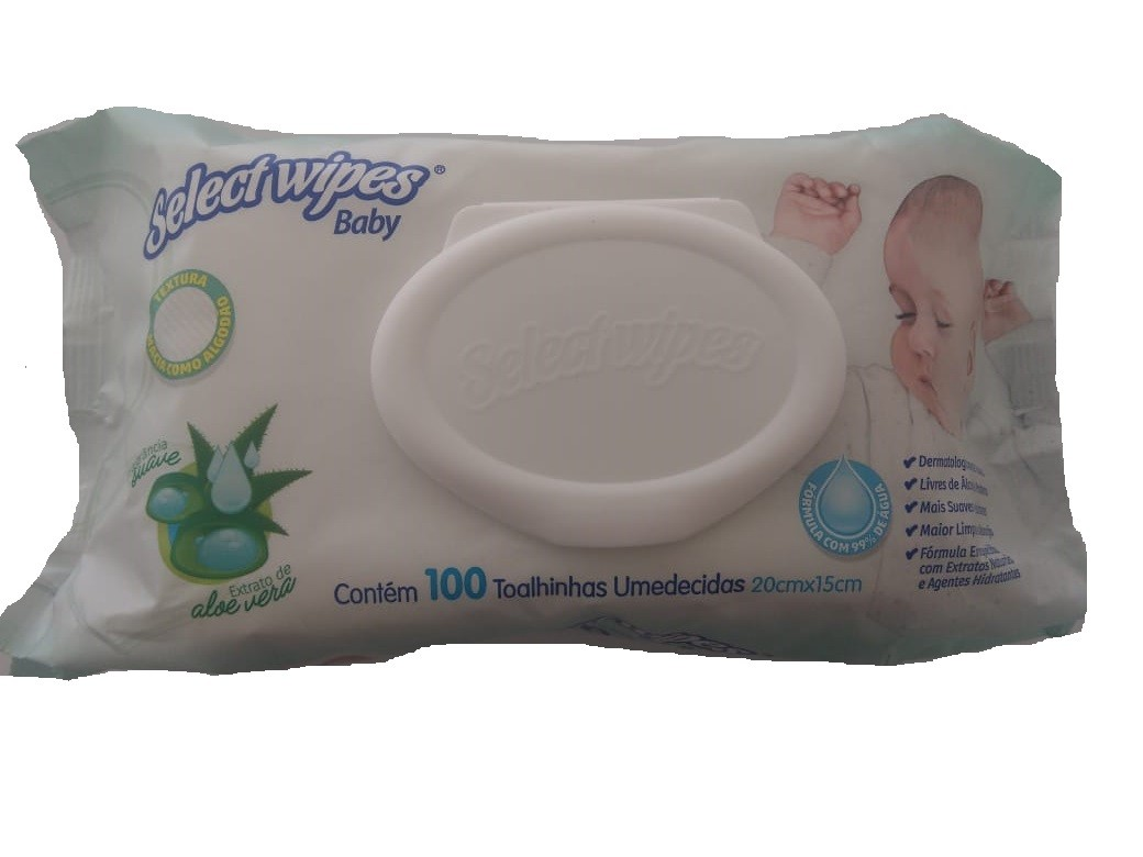 TOALHAS UMEDECIDAS SELECT WIPES BABY C/100  - Ruth Fraldas