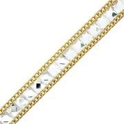 Manta de Chaton com Corrente - Cristal com Dourado - Premiatto® - 4.5m