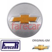 Calota 59mm Tampa Miolo Roda logo Gm dourado Vectra Onix Spin Prisma Cobalt