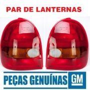 Par Lanterna Original Gm 93232513 e 93232514 Corsa Hatch 2 Portas Wind 1994 1995 1996 1997 1998 1999