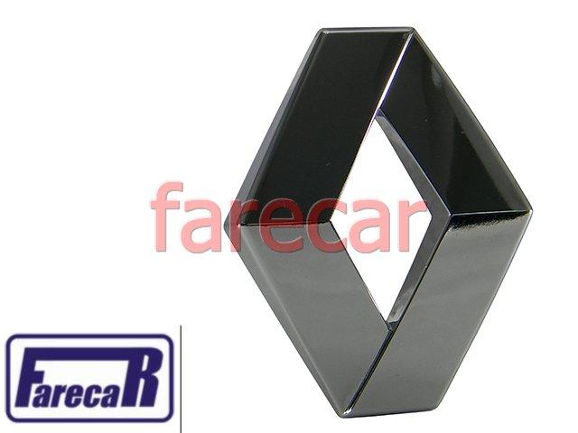EMBLEMA LOGO RENAULT DIANTEIRO CROMADO LOGAN SANDERO CLIO MEGANE  - Farecar Comercio