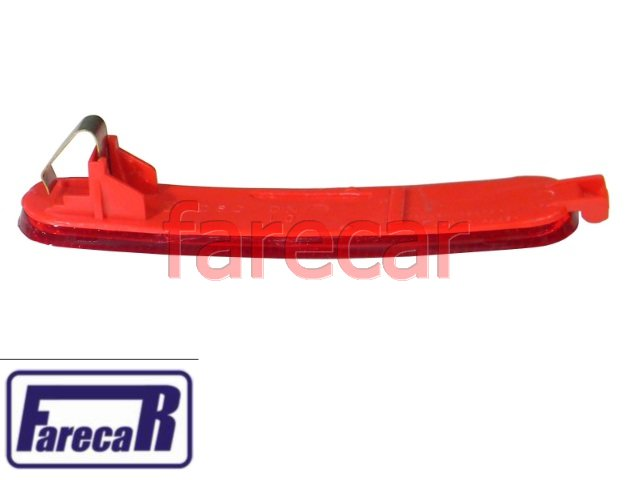 lanterna refletor vermelho refletivo parachoque traseiro fiat siena  - Farecar Comercio