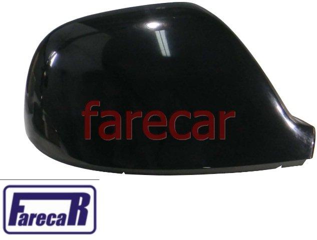 capa preta superior do espelho retrovisor original Metagal Vw Amarok 2010 2011 2012 2013 2014 2015 2016 2017 2018   - Farecar Comercio