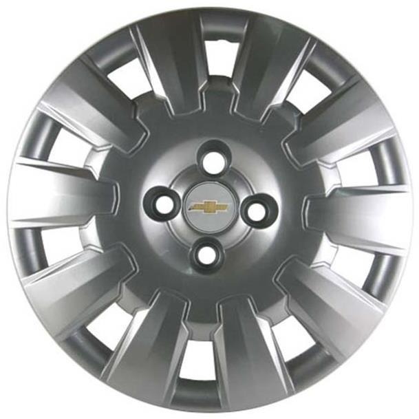 Calota com logo dourado para roda de ferro aro 15 original GM 94736063 Vectra 2006 2007 2008 2009 2010 2011 2012  - Farecar Comercio