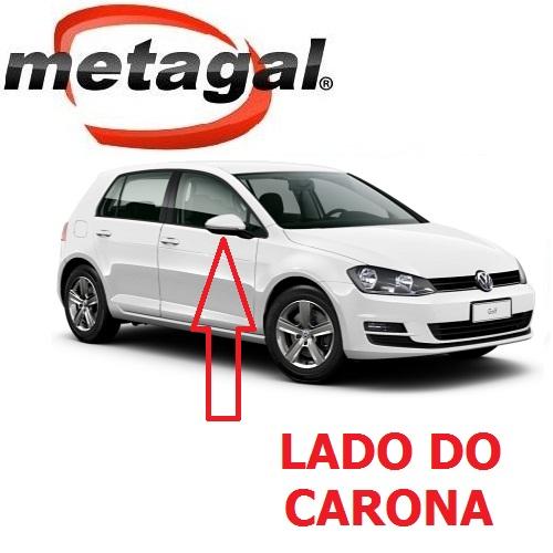 Capa Cobertura do Espelho Retrovisor Lado Direito pintada na Cor Branco Puro VW Golf 2014 2015 2016 2017 14 15 16 17  - Farecar Comercio