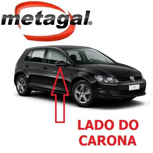 Capa Cobertura do Espelho Retrovisor Lado Direito pintada na Cor Preto Ninja VW Golf 2014 2015 2016 2017 14 15 16 17  - Farecar Comercio